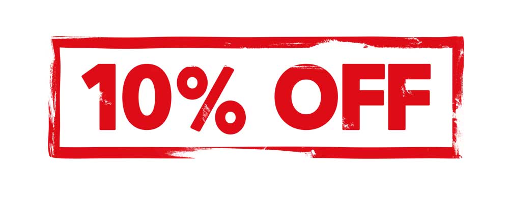 10% discount until May 10